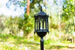 Black Lantern in the park. Royalty Free Stock Photography