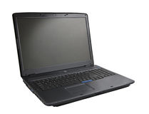 Black laptop. On white background with clipping path Royalty Free Stock Image