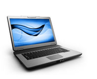 Black laptop Royalty Free Stock Image