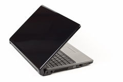 Black laptop Stock Photo