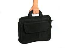 Black laptop bag Stock Images
