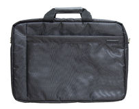 Black laptop bag isolated on white background Royalty Free Stock Photos