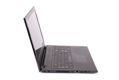 Black laptop clipping path Stock Images