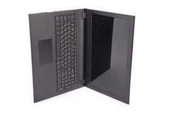 Black laptop clipping path Royalty Free Stock Photography