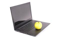Black laptop clipping path Royalty Free Stock Photos
