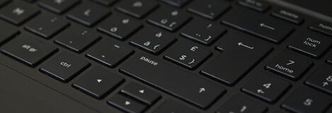 Black Laptop Computer Keyboard Royalty Free Stock Photos