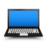 Black Laptop. Black computer notebook. isolated on white background. vector illustration royalty free illustration