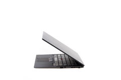 Black laptop isolate Royalty Free Stock Image