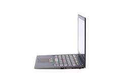 Black laptop isolate Stock Photos