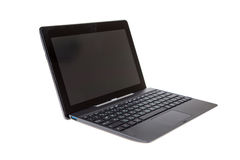 Black laptop isolated on white Royalty Free Stock Photography