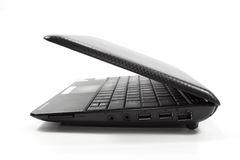 Black laptop/netbook Royalty Free Stock Image