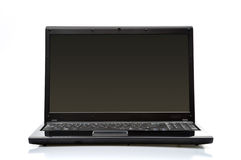 Black Laptop. On the white background stock photography