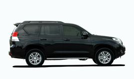Black large SUV Royalty Free Stock Images
