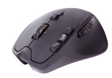 Black laser computer mouse Stock Images