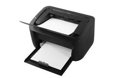 Black laser printer Stock Photo