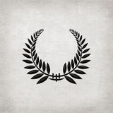Black Laurel Wreath Royalty Free Stock Photos