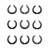 Black laurel wreaths 1 Stock Photography