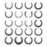 Black laurel wreaths 1 Royalty Free Stock Photos