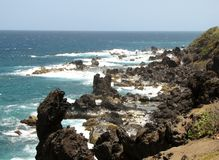 Black lava rock Royalty Free Stock Images