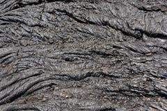 Black Lava swirl Stock Photos