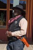 Black Lawman in Tombstone Arizona Royalty Free Stock Photos