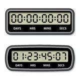 Black LCD counter - countdown timer Royalty Free Stock Photo