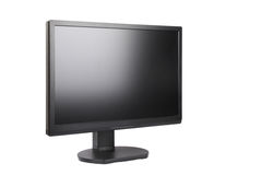 Black LCD monitor. A black LCD monitor on a white background Stock Photography