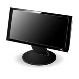 Black LCD monitor Royalty Free Stock Images