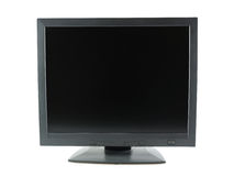 Black LCD monitor Stock Image