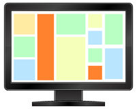 Black Lcd Monitor Stock Images