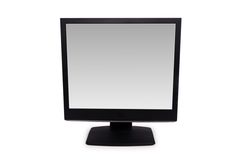 Black lcd monitor isolated on the white Royalty Free Stock Photography