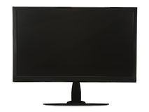 Black lcd monitor isolated on white background. Stock Image
