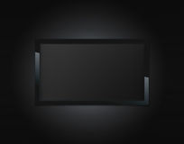 Black LCD tv. Screen hanging on a wall Stock Image