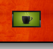 Black LCD tv Stock Images