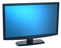 Black Lcd tv monitor on white background. Royalty Free Stock Photo
