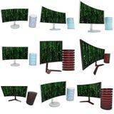 Black LCD tv screen Stock Photo