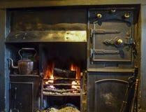 Black lead fireplace Royalty Free Stock Photo
