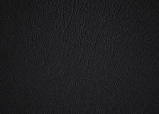 Black leather. Close up of the texture of a black leahter jacket Stock Photos
