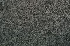 Black leather. Furniture upholstery leather of black color Royalty Free Stock Image