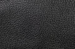 Black Leather. Grainy texture from black leather Royalty Free Stock Photography