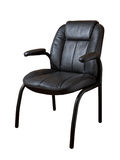 Black leather armchair Stock Images