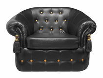 Black leather armchair Royalty Free Stock Photo
