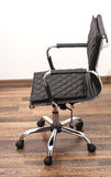 Black leather armchair Royalty Free Stock Images