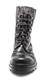 Black Leather Army Boot Stock Photography
