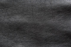 Black leather background. Black leather texture with pattern, abstract background Stock Photo
