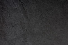 Black Leather Background Stock Photography