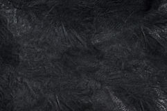 Black leather background. An abstract black leather background Stock Photography