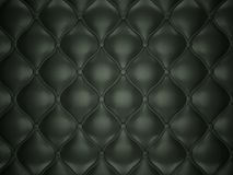 Black leather background with buttons. Luxury texture and background Stock Image