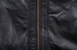 Black leather background closeup Royalty Free Stock Images