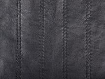 Black leather background closeup Royalty Free Stock Image